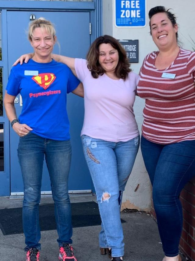 From left, Nueva Vista Sacramento program coordinator Josephine Robinson, Fruit Ridge community outreach director Erin Stone and Psynergy's Shanna Thompson join forces at Fruit Ridge Collaborative Center.